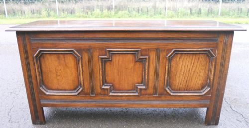 Jacobean Style Oak, Panelled Blanket Box